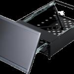 回転型LCD引出ユニット(PC設置時)